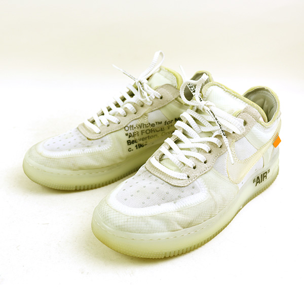 online here more photos classic fit OFF-WHITE off-white THE 10:NIKE AIR FORCE 1 LOW sneakers men white 27.5cm