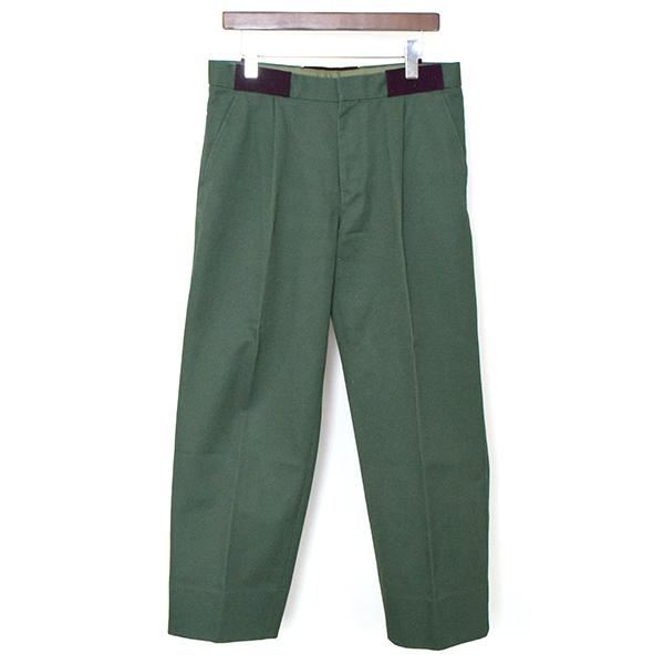 【中古】kolor カラー 16AW コットントラウザーパンツ メンズ グリーン 2