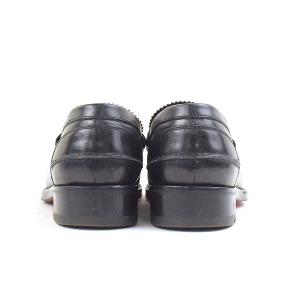 7c7c853ac52d Christian Louboutin クリスチャンルブタン DE SAILLY FLAT CALF P pole studs leather  loafer shoes men black 40 (around 25cm)