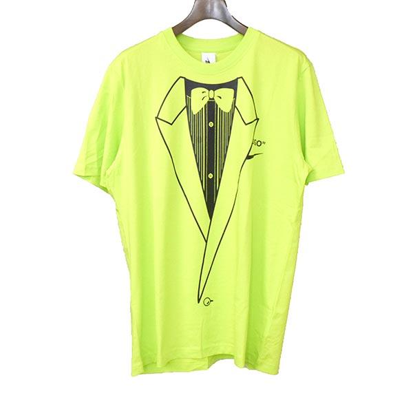 【中古】OFF-WHITE オフホワイト ×NIKE ナイキ 18W M NRG A6 TEE プリントTシャツ メンズ グリーン L