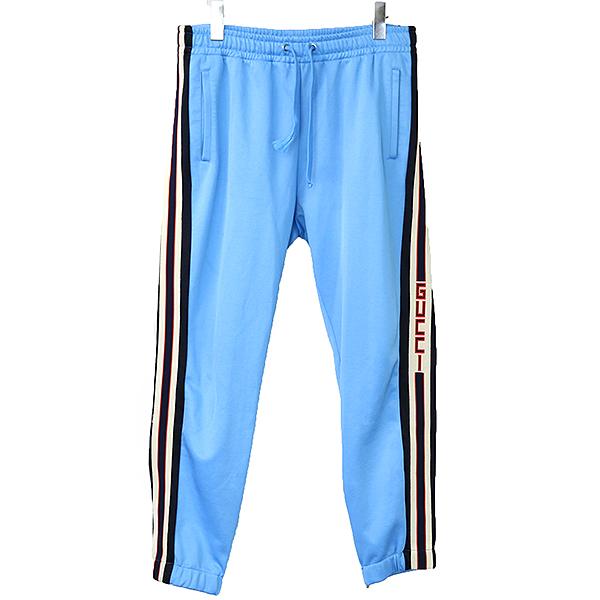 timeless design c6bdc da56e GUCCI Gucci 18SS side line technical trackpants men blue L