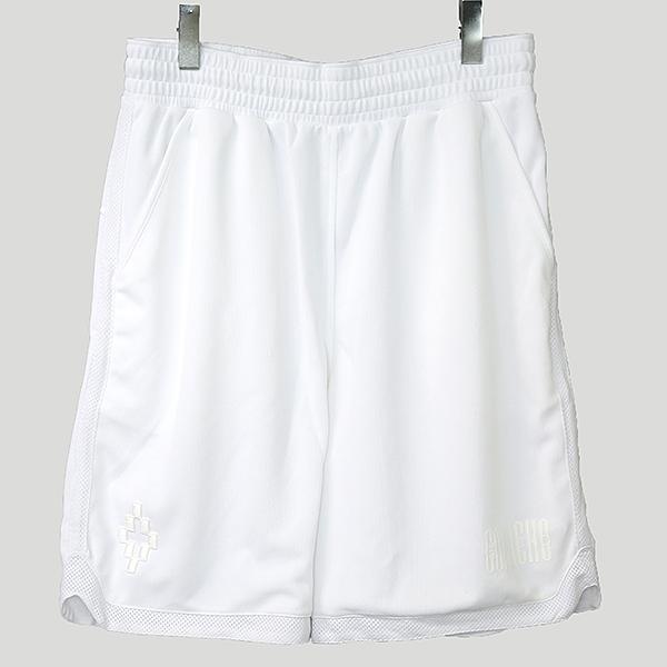 【中古】MARCELO BURLON マルセロバーロン バスケットショーツ メンズ ホワイト L