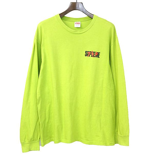【中古】Supreme シュプリーム ×AKIRA 17AW Neo-Tokyo L/S Tee ロングスリーブ長袖カットソー Tシャツ メンズ グリーン L