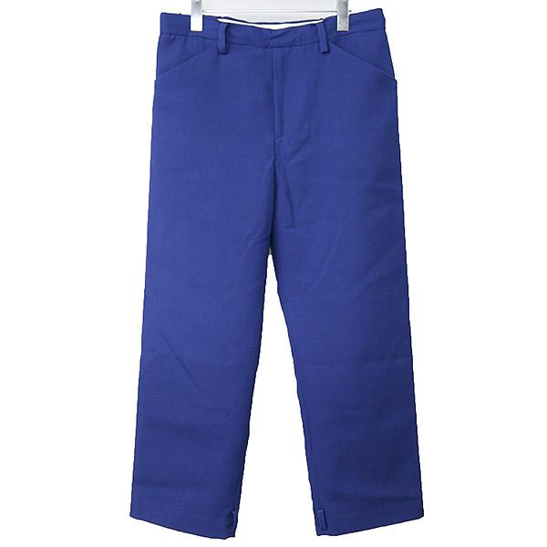 【中古】SUNSEA サンシー 16AW OSMO WOOL STRAIGHT PANTS ストレートワイドパンツ メンズ ブルー 2
