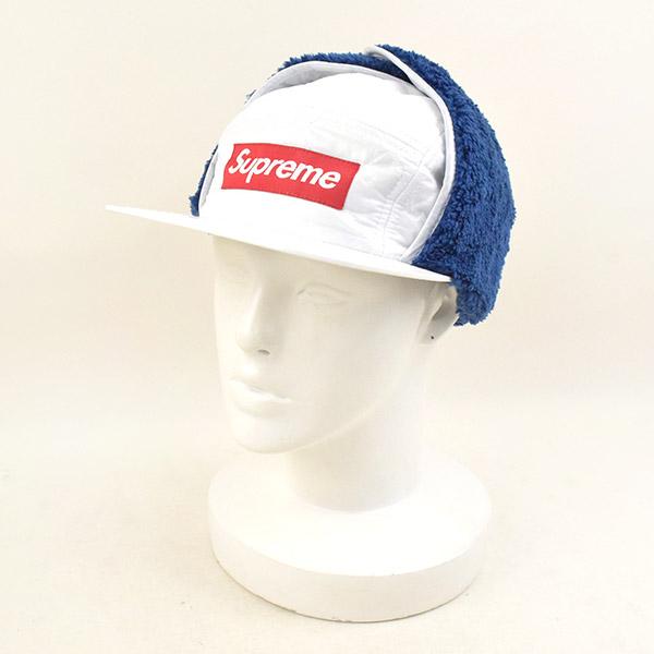 【中古】Supreme シュプリーム 16AW Quilted Earflap Camp Cap 帽子 キャップ メンズ ホワイト S/M