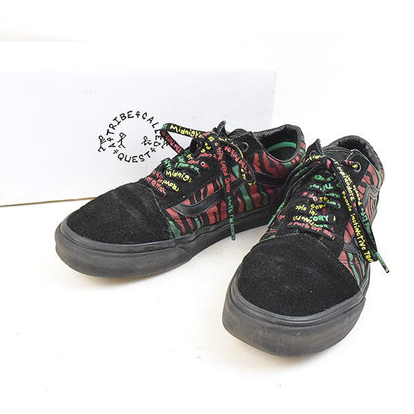 7dc14d072c VANS vans X A Tribe Called Quest atto- live cold quest OLD SKOOL  low-frequency cut sneakers men black 27cm
