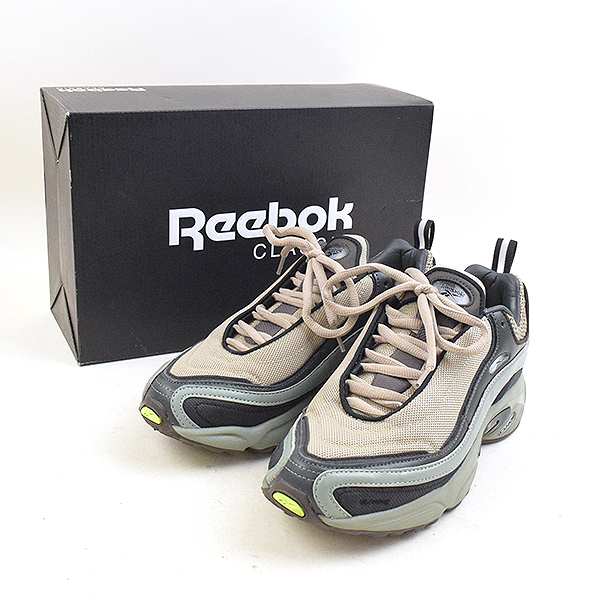 【中古】Reebok CLASSIC リーボック クラシック ×VAINL ACHIVE DAYTONA DMX VA スニーカー メンズ カーキ 26cm