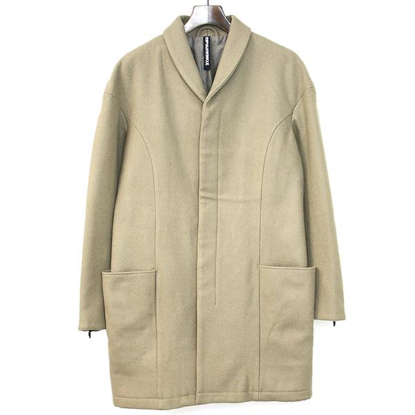 【中古】ripvanwinkle リップヴァンウインクル 18AW Heavy Melton Chester Coat ヘビーメルトンチェスターコート メンズ ベージュ 4