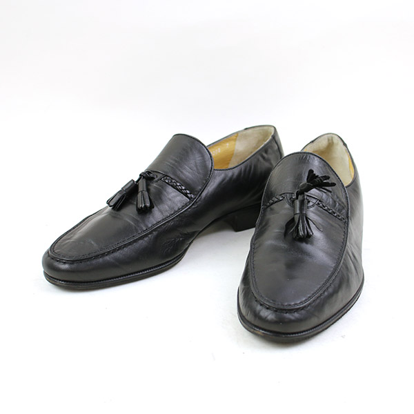 8c67db601 Leather loafer men black 7 (around 25cm) with the BALLY Barry tassel ...
