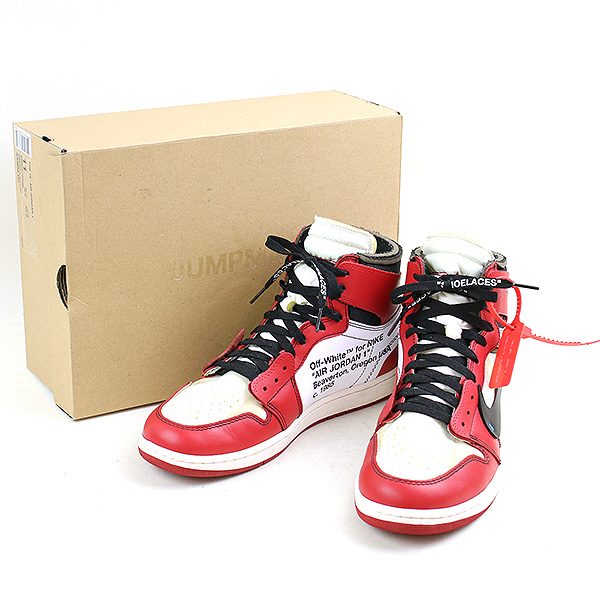 new styles 85bcd 0122c NIKE X OFF-WHITE Nike X off-white THE TEN AIR JORDAN 1 AA3834-101 sneakers  men red 29cm