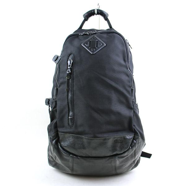 ab1445be2 visvim ビズビム 09AW BALLISTIC 20L VEGGIE leather combination Bali stick nylon backpack  men black ...