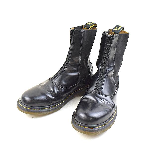 Yohji Yamamoto POUR HOMME X Dr.Martens ヨウジヤマモトプールオム X doctor Martin side Gore center zip leather boots men black UK9 (around 28cm)