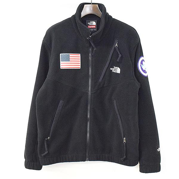 【中古】Supreme×THE NORTH FACE シュプリーム×ザ ノースフェイス 17SS Trans Antarctica Expedition Fleece Jacket ブラック M メンズ