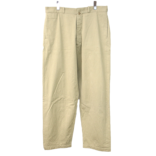 【中古】YAECA ヤエカ CHINO CLOTH PANTS WIDE TAPERED テーパードワイドチノパンツ メンズ ベージュ 34