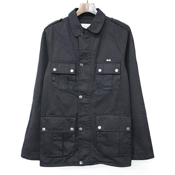 【中古】MAISON KITSUNE メゾンキツネ 14AW M-65 ミリタリージャケット ブラック S メンズ
