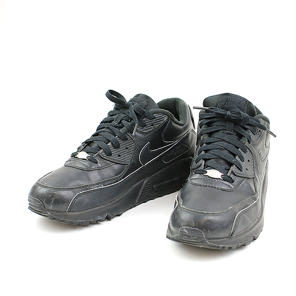check out 606dd b695d NIKE Nike AIR MAX 90 LEATHER sneakers 302,519-001 black 28cm men