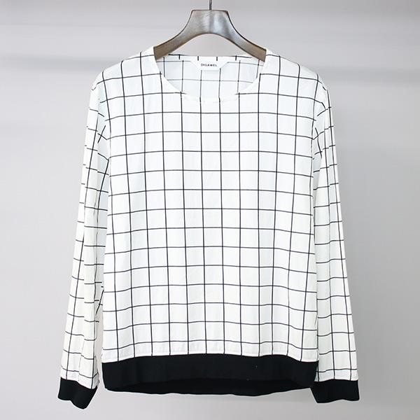 【中古】DIGAWEL ディガウェル 15SS PULLOVER SHIRT プルオーバーシャツ ホワイト 1 メンズ