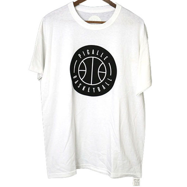 PIGALLE ピガール 15SS バスケットボールプリントTシャツ ホワイト L【中古】