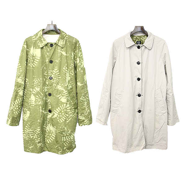 【中古】McQ マックキュー リバーシブルステンカラーコート カーキ×ホワイト サイズ表記なし メンズ