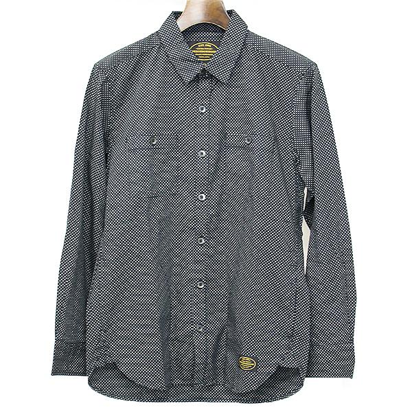 【中古】NEIGHBORHOOD ネイバーフッド 15AW ドット柄長袖シャツ ブラック S メンズ