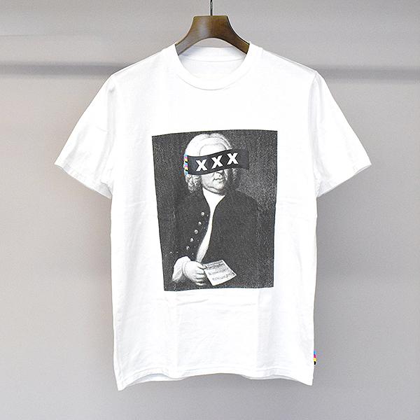 【中古】GOD SELECTION XXX ゴッドセレクション トリプルエックス バッハプリントTシャツ ホワイト S メンズ