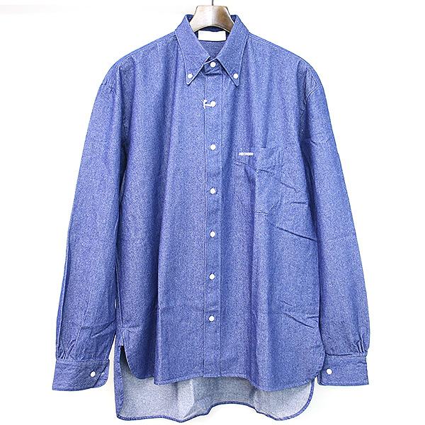 【中古】NEON SIGN ネオンサイン 18AW O別注 B.D DENIM SHIRT ボタンダウンデニムシャツ インディゴ 44 メンズ