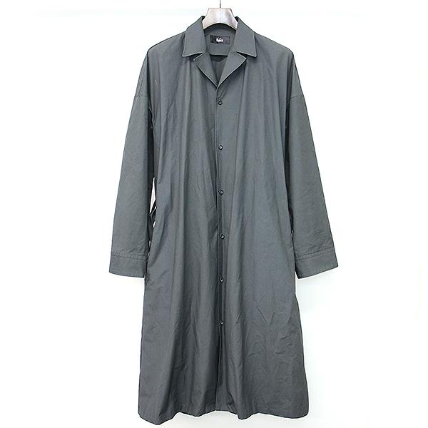 【中古】THE RERACS ザ リラクス 18SS DRESS SHIRTS-ISH ロングシャツコート ブラック F メンズ