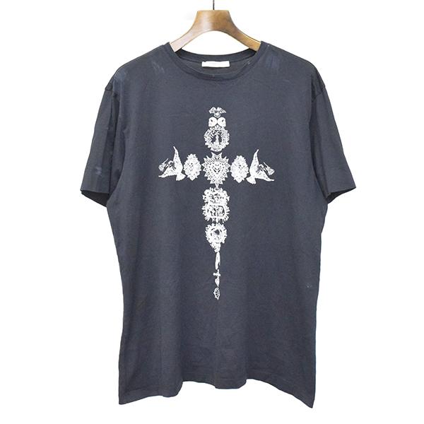 【中古】GIVENCHY ジバンシィ 11AW プリントTシャツ ブラック M メンズ