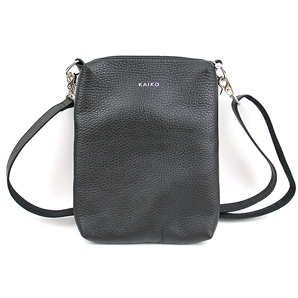 【中古】KAIKO カイコ LEATHER SHOULDER BAG レザーショルダーバッグ ブラック メンズ