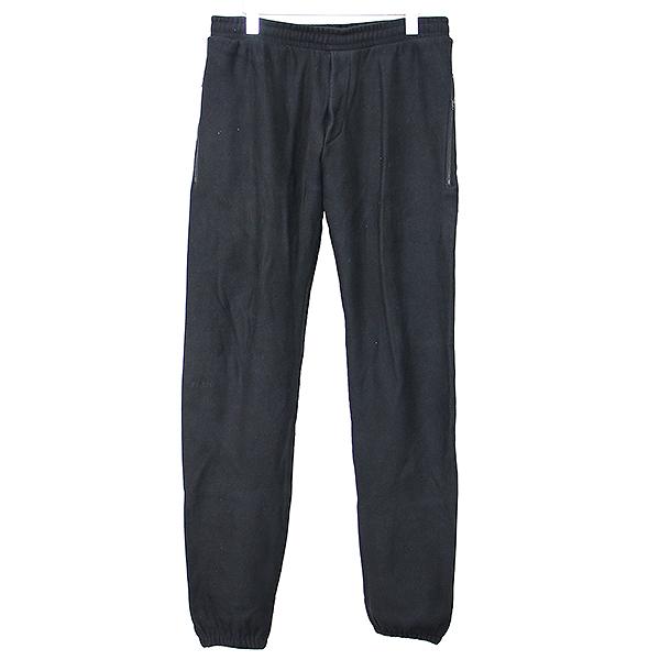 【中古】VETEMENTS ヴェトモン 18SS LABEL APPLIQUE SWEAT PANTS レーベルアップリケスウェットパンツ ブラック L メンズ