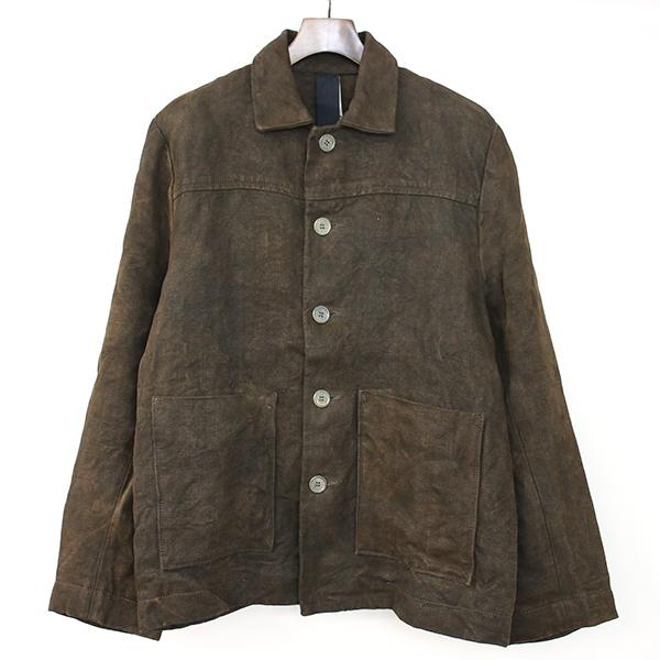 【中古】BIEK VERSTAPPEN ビークファースタッペン 18AW Coveralls Jacket Hemp Stonewashed ストーンウォッシュカバーオールジャケット ブラウン S メンズ