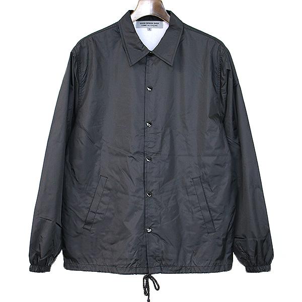 【中古】GOOD DESIGN SHOP COMME des GARCONS グッドデザインショップ コムデギャルソン 17SS バックプリントナイロンコーチジャケット ブラック S メンズ