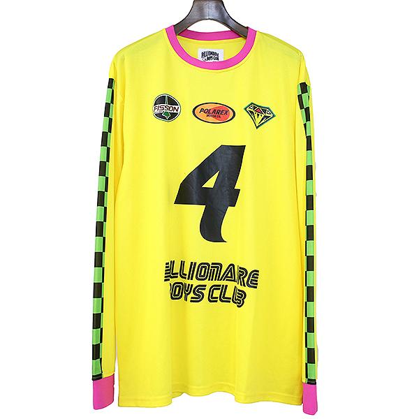 【中古】BILLIONAIRE BOYS CLUB ビリオネアボーイズクラブ ナンバリングフットボールシャツ イエロー XXL メンズ