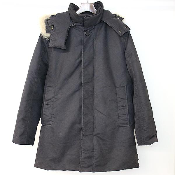【中古】MONCLER モンクレール CEZANNE セザンヌ ダウンジャケット モッズコート茶タグ 旧モデル ダウンコート ブラック 1 メンズ
