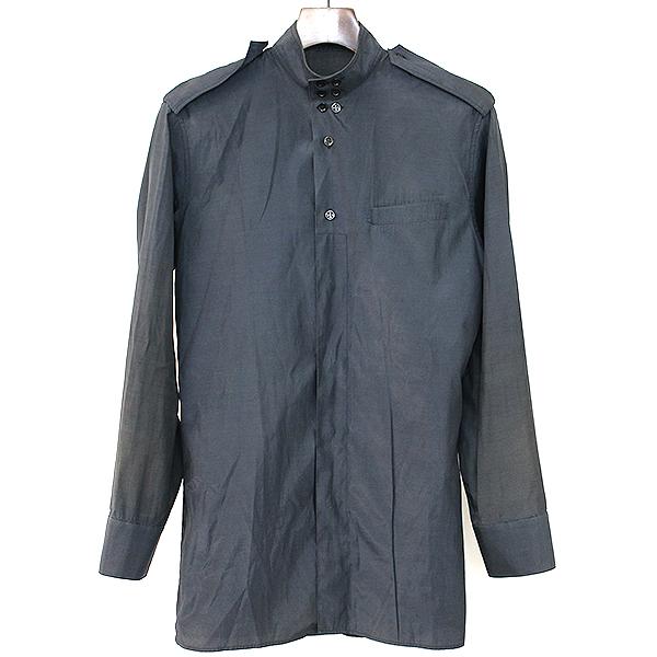 【中古】Dior HOMME ディオールオム 07SS コットンポリスタンドカラーサファリシャツ ブラック 37 メンズ