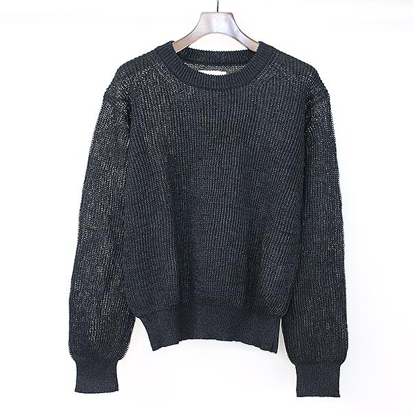【中古】markaware マーカウェア 19SS CREWNECK アルパカ混ニットセーター ブラック 1 メンズ