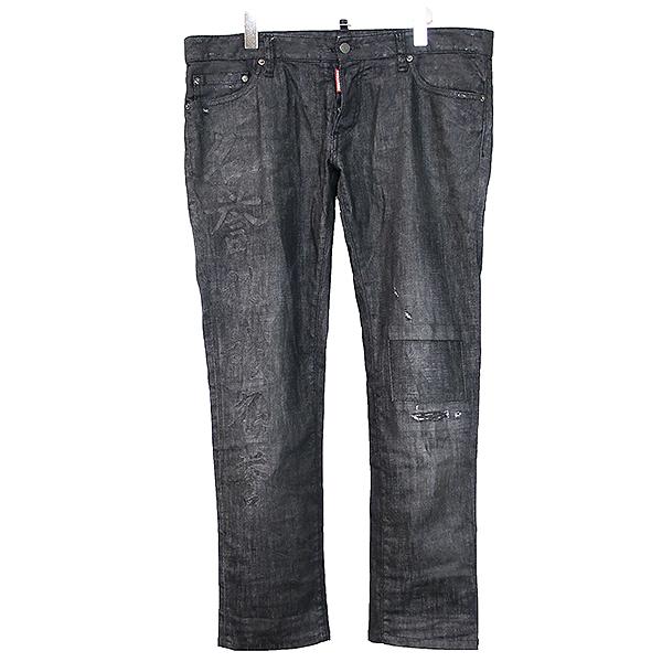 【中古】DSQUARED2 ディースクエアード 16AW SLIM JEAN デニムパンツ ブラック 52 メンズ