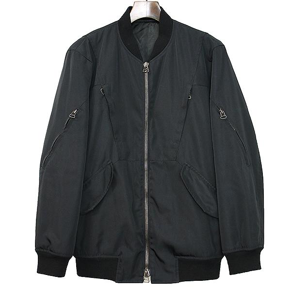 【中古】GIULIANO FUJIWARA ジュリアーノフジワラ マルチジップミリタリー中綿ボンバージャケット ブラック 44 メンズ
