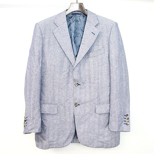 【中古】CANALI カナーリ Exclusive Collection リネンカシミヤヘリンボーンジャケット ネイビー 46 メンズ