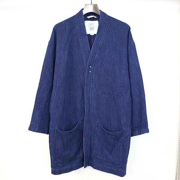 WORK NOT WORK ワークノットワーク 16SS HACHISU INDIGO LABOR SHIRTS 蜂巣織りインディゴシャツジャケット インディゴ L メンズN80mnvw
