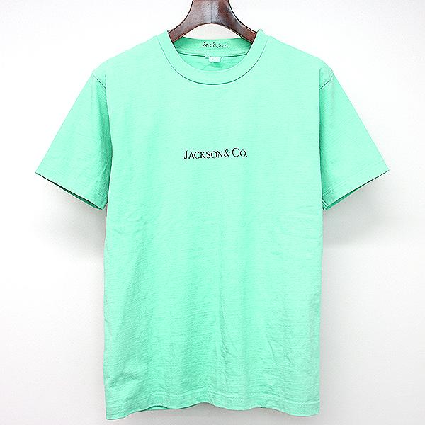 【中古】JACKSON MATISSE ジャクソン マティス 18AW JACKSON&Co ティファニーオマージュTシャツ ターコイズブルー S メンズ
