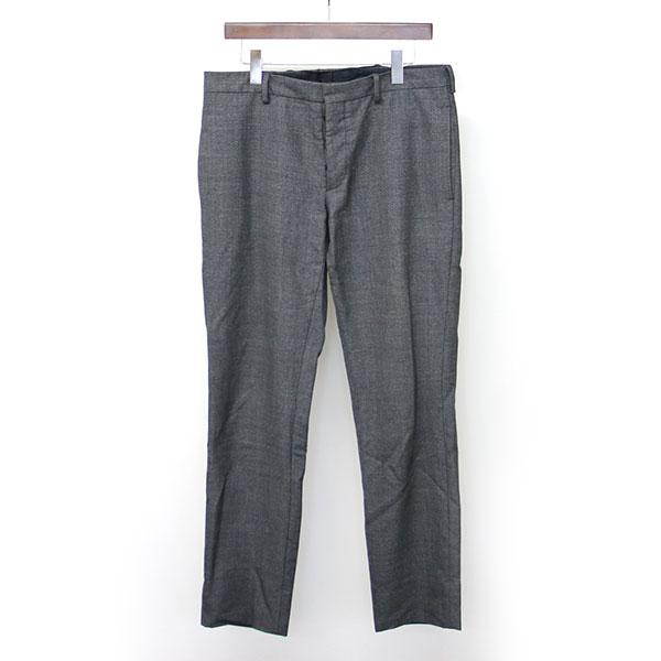 【中古】PRADA プラダ スラックスパンツ チャコールグレー 48 メンズ