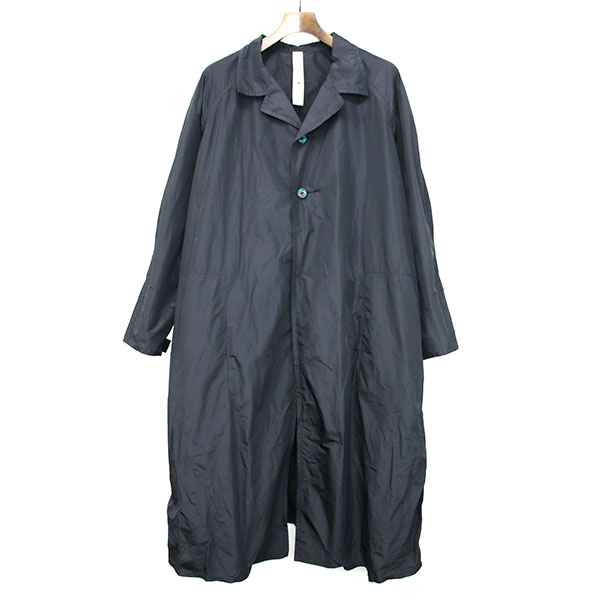 【中古】SHINYA KOZUKA シンヤコズカ 16SS RAGLAN SLEEVE COAT ポリエステルラグランスリーブコート ブラック L メンズ