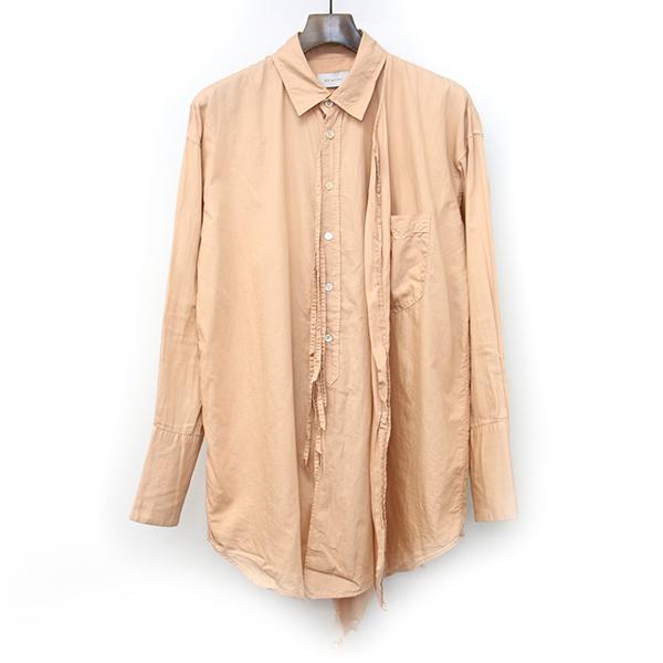 【中古】BED J.W. FORD ベッドフォード 左ラップカットオフデザインシャツ オレンジ 0 メンズ