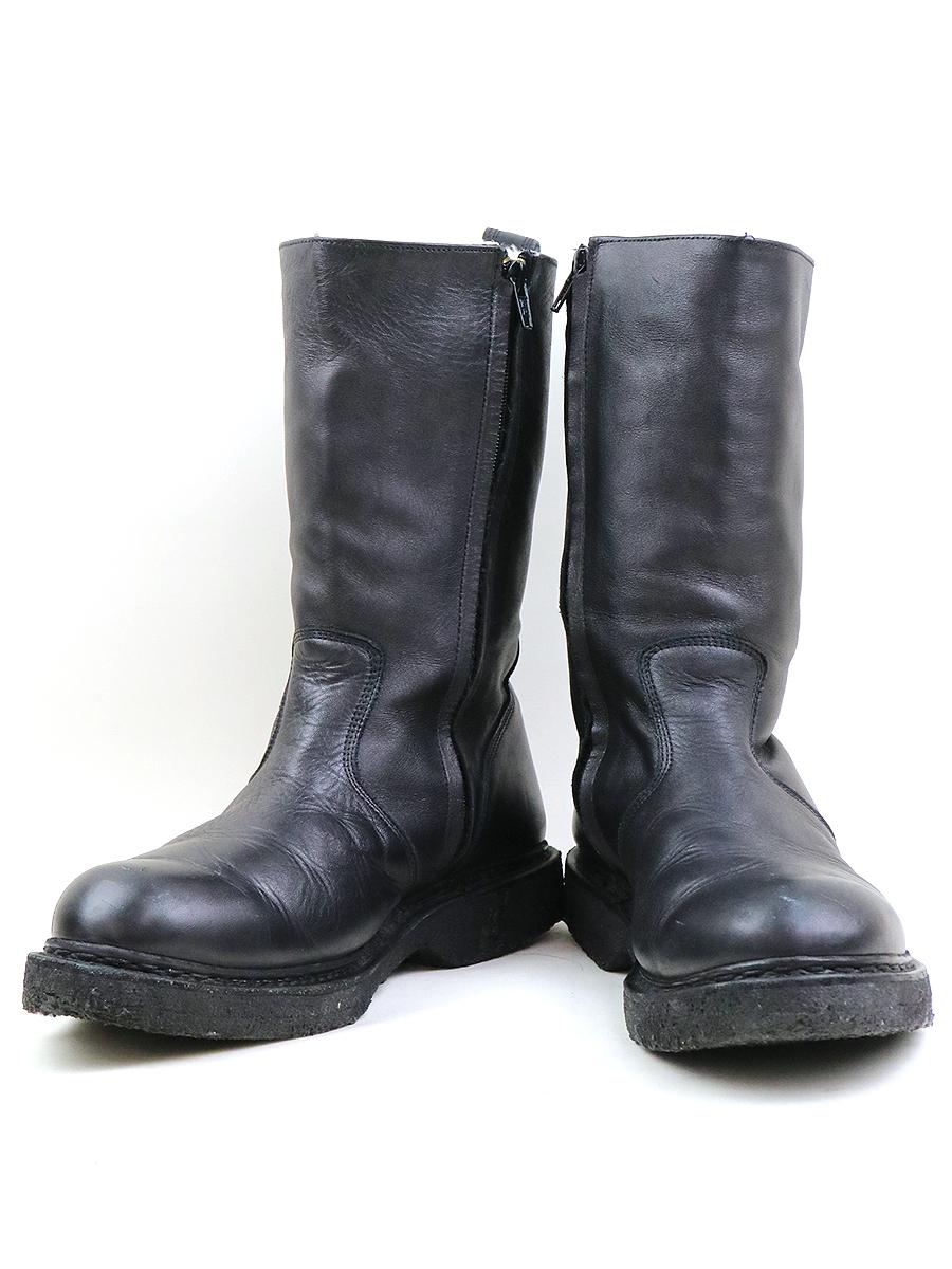 【中古】BALMAIN HOMME バルマン オム サイドジップボアレザーブーツ ブラック 41(26cm程度) メンズ