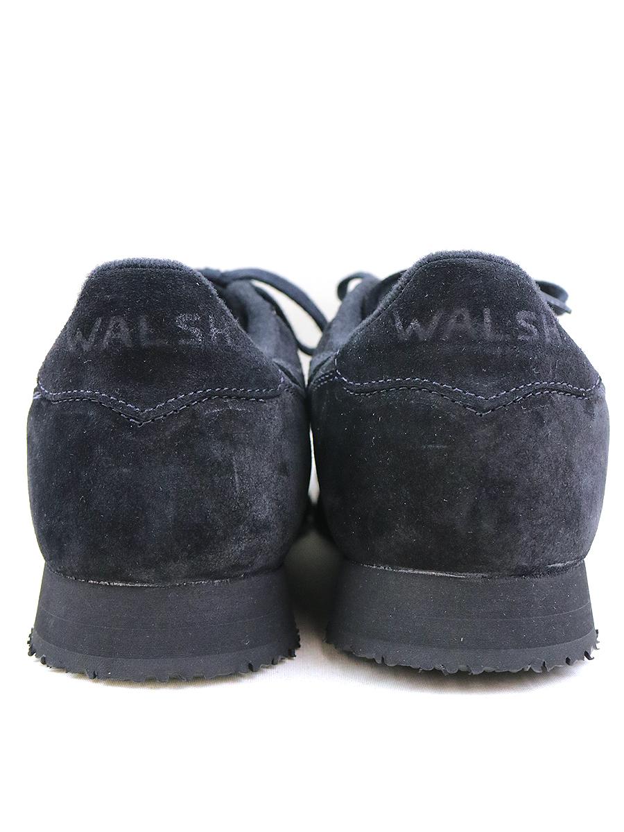 WALSH ウォルシュ スエードレザースニーカー ブラック US11 29cm程度メンズygYf76b