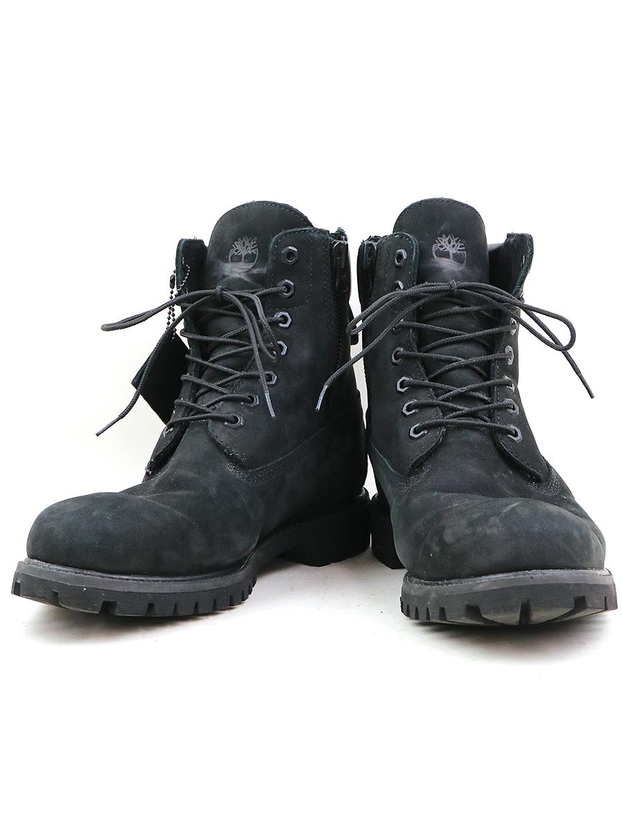 【中古】Timberland × SOPHNET. ティンバーランド × ソフネット 17AW ICON 6INC PREMIUM ZIP BOOTS レザーブーツ ブラック 28.5cm メンズ