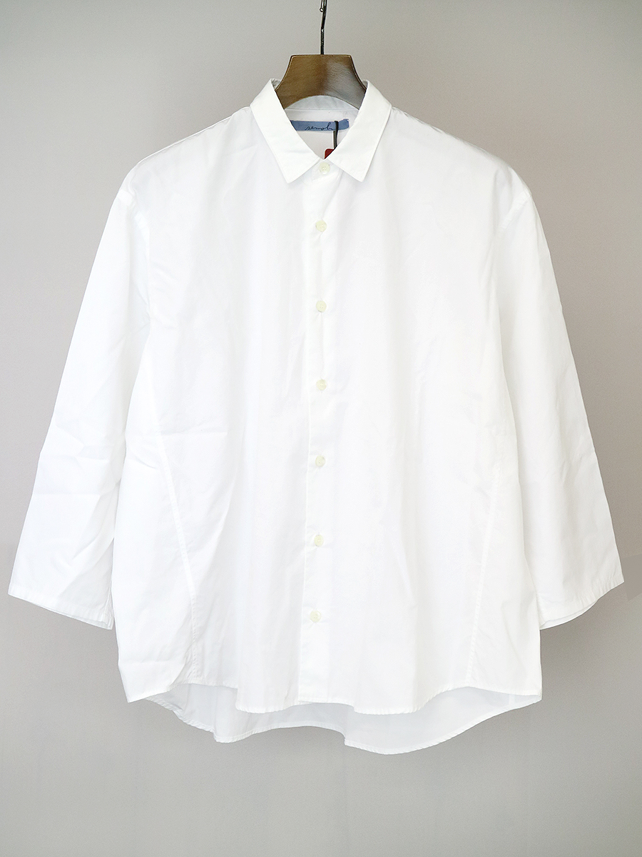 【中古】semoh セモー コットンブロードワイドシャツ ホワイト 1 メンズ