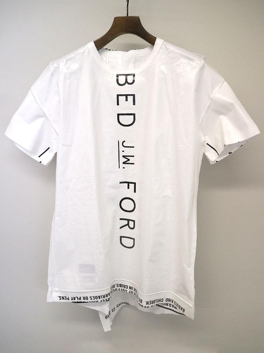 【中古】BED J.W. FORD ベッドフォード x doublet ダブレット 19SS cote a cote レセプションパーティー限定 パッケージバックヘンリーTシャツ ホワイト 0 メンズ