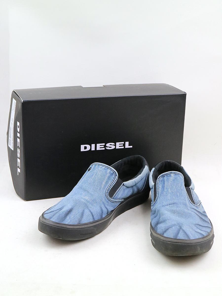 【中古】DIESEL ディーゼル SUB-WAYS デニムスリッポン スニーカー インディゴ 28.5cm メンズ